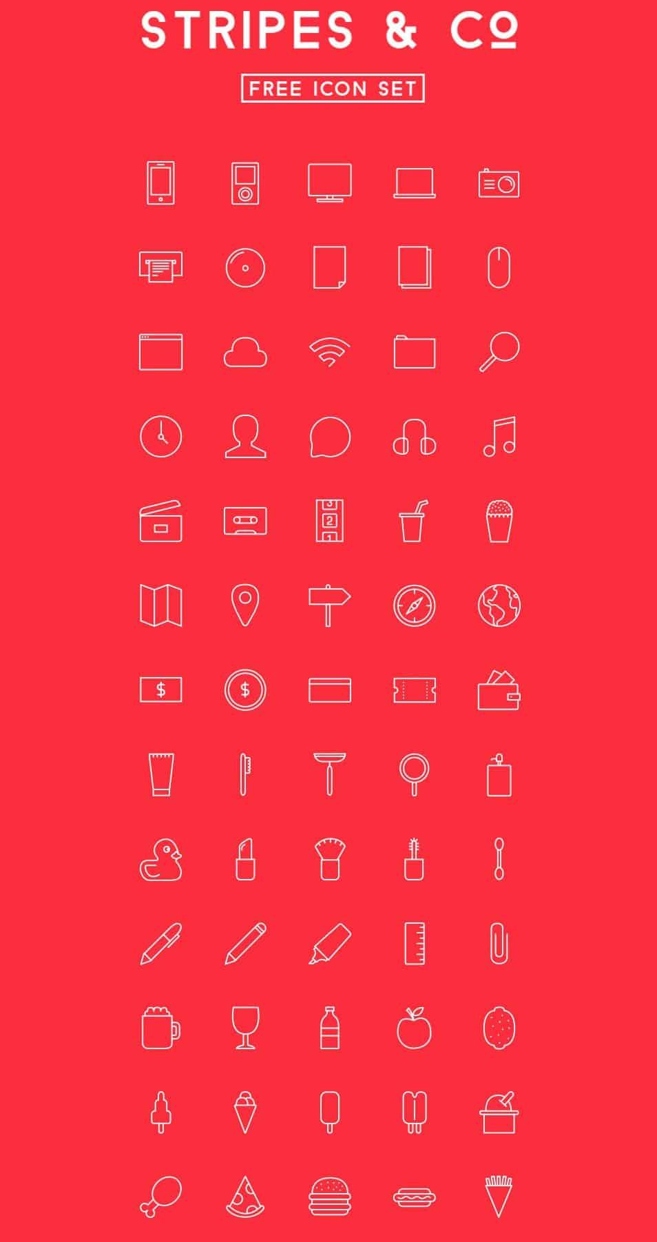 Stripes & Co – Free icon Set