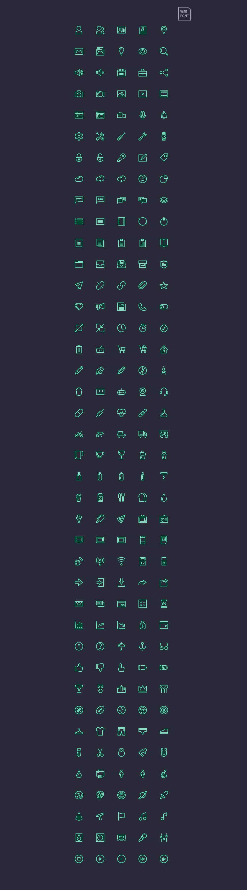 Stroke Gap Icons – Webfont