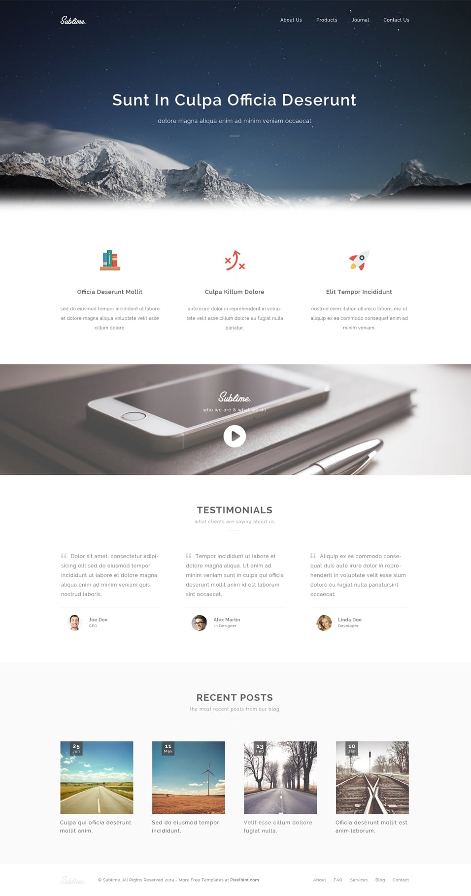 Sublime – Free Stunning PSD Template