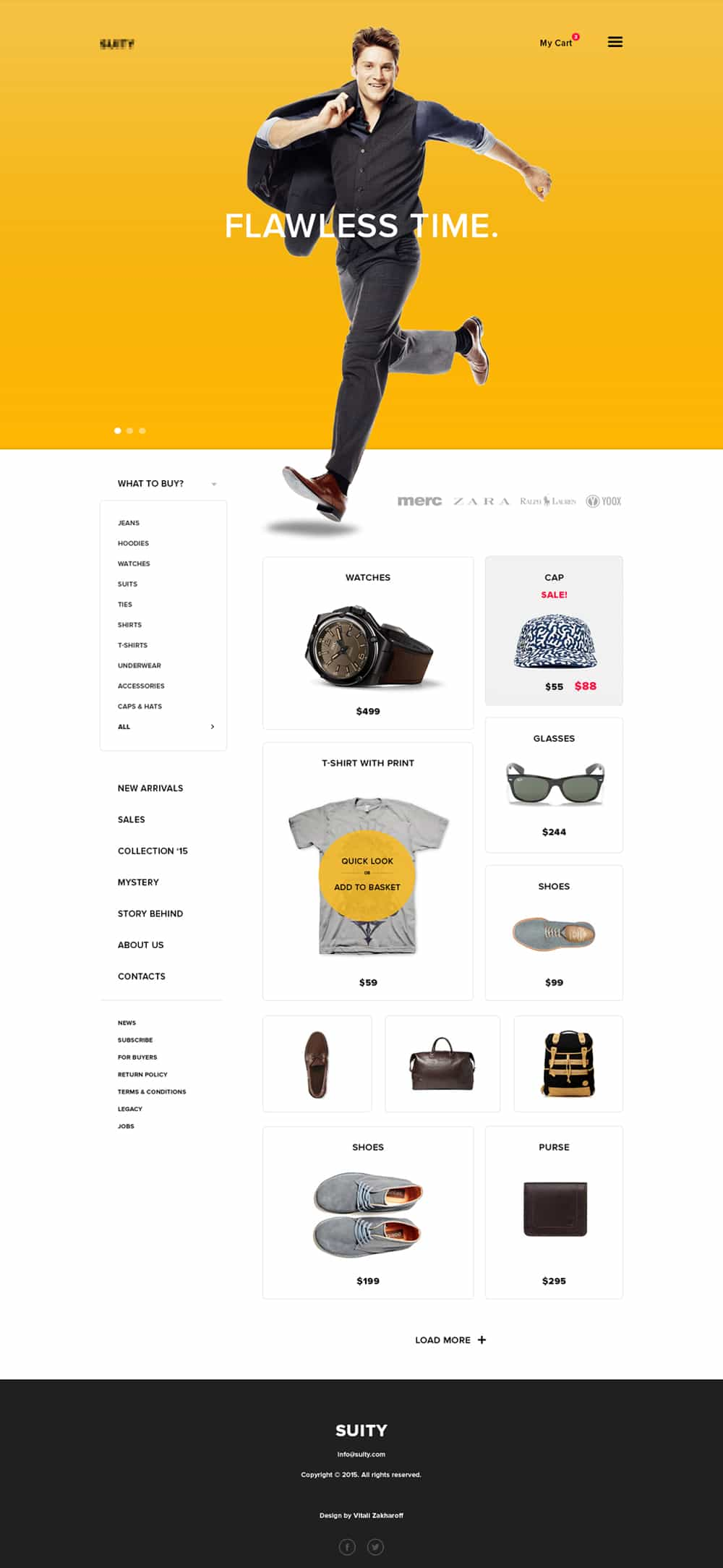 Suity - Free Online Shop Template PSD