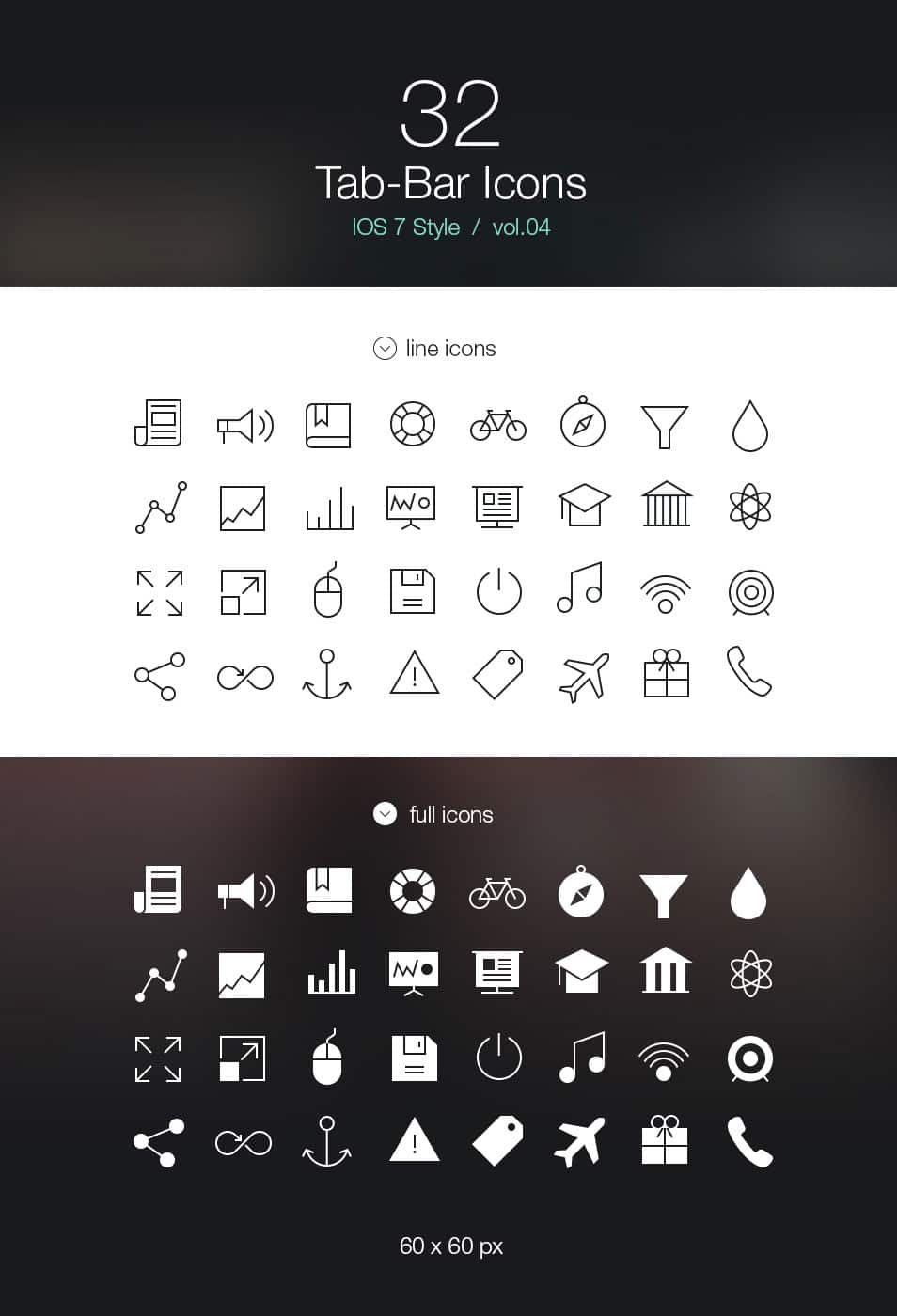 Tab Bar Icons iOS 7 Vol4