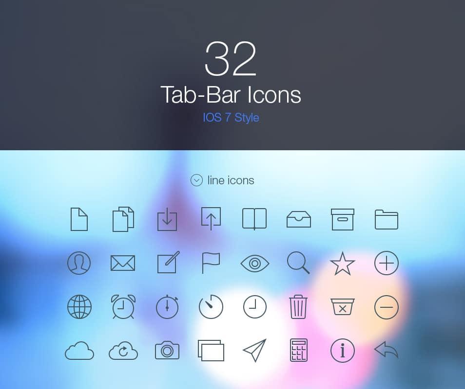 Tab Bar Icons iOS 7