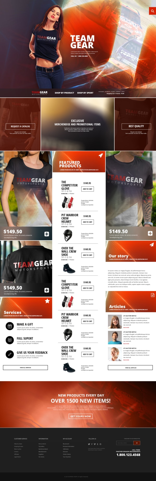 Team Gear - Online shop Template PSD