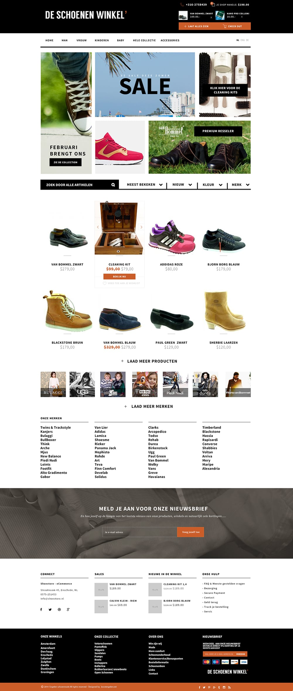 The Shoe Store - Free Website Template PSD