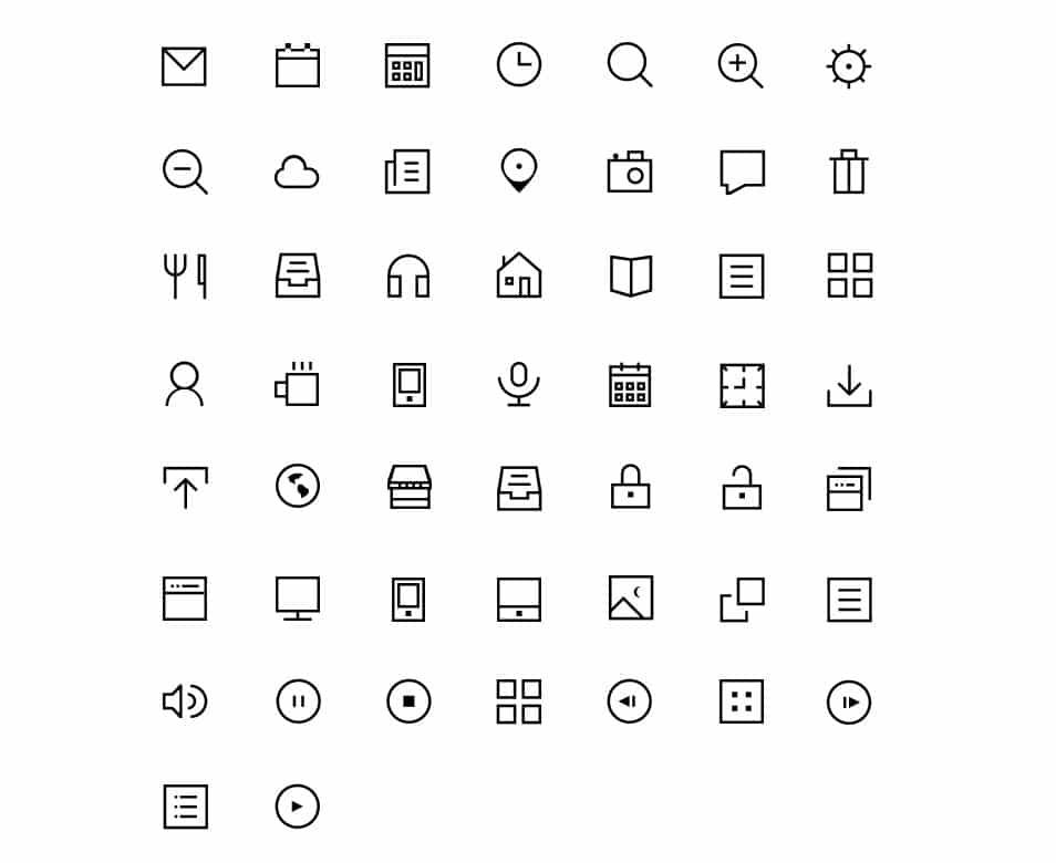 Thin Icons 3