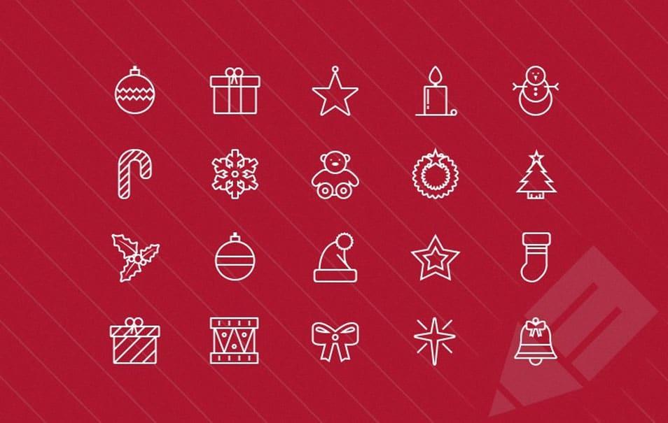 Thin Vector Christmas Icons