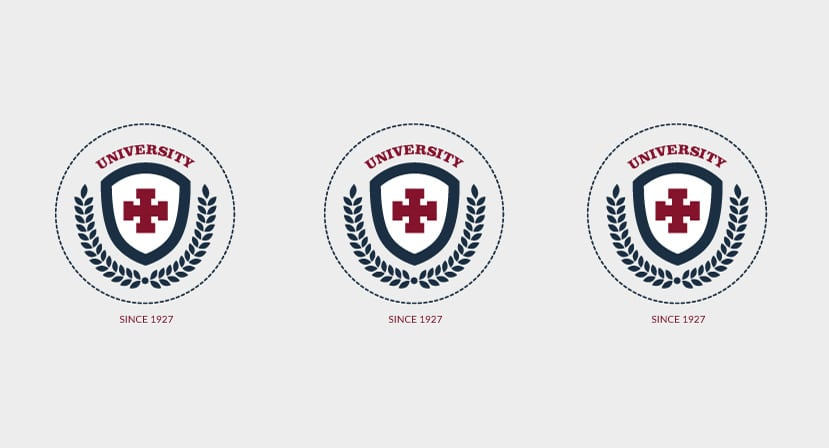 University Badge Vector