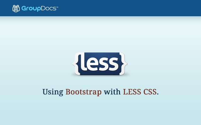 Using Bootstrap With LESS CSS