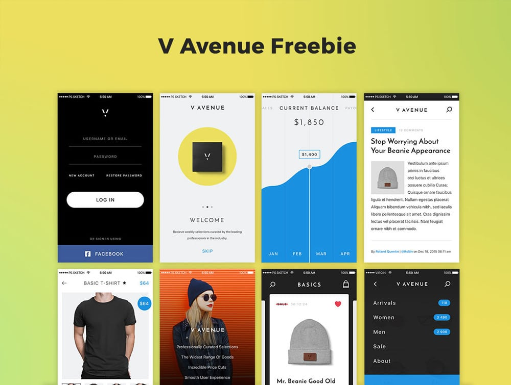 V Avenue UI Kit