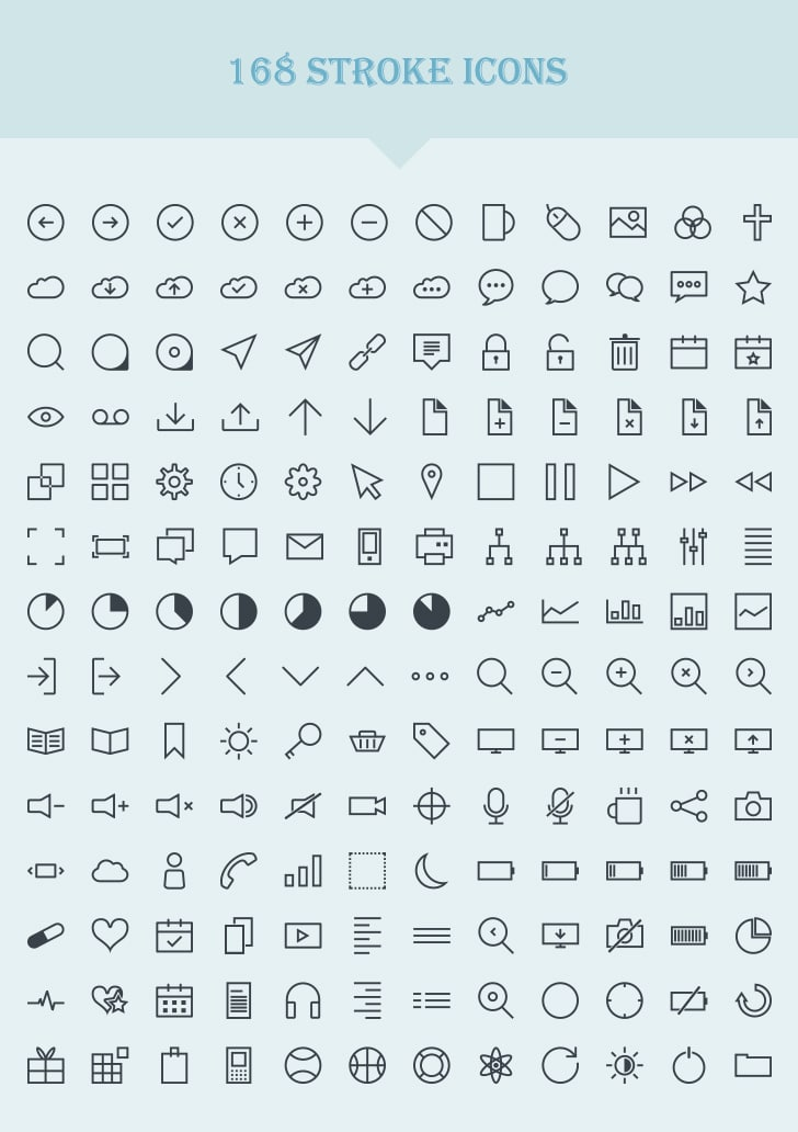 Vector Stroke Icons