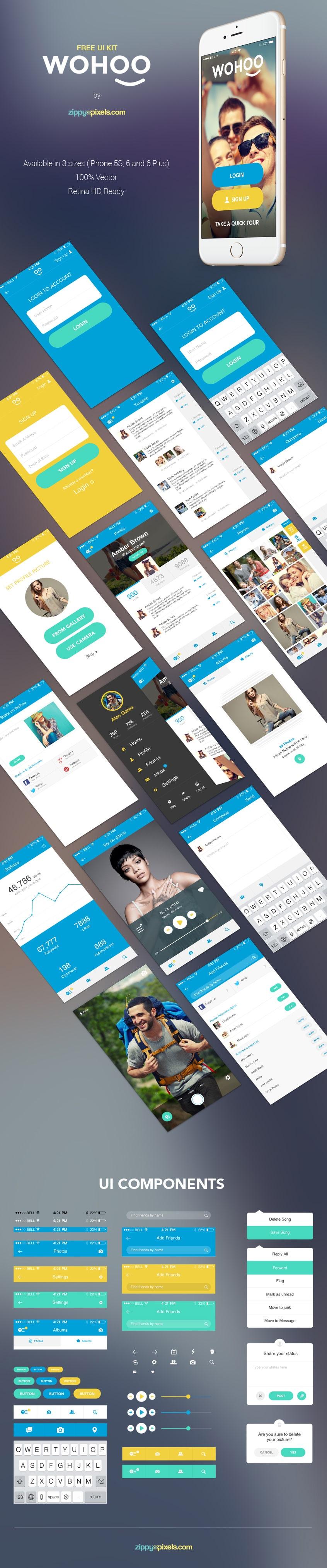 WOHOO--Free-Mobile-App-UI-KIT