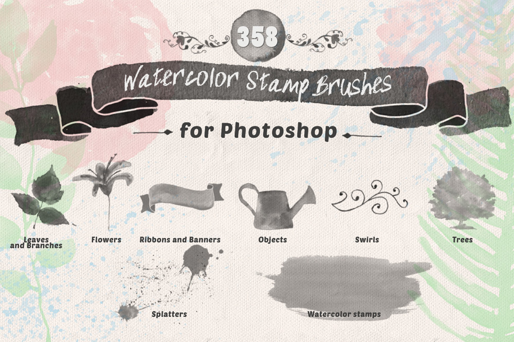 Watercolor PS Stamp Brushes