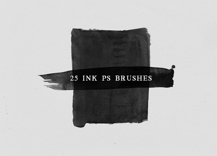 Watercolor and Ink Photoshop Brushes