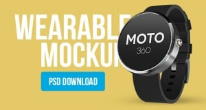 Wearable Mockup Design PSD (Smart Watch) – Freebie No:147