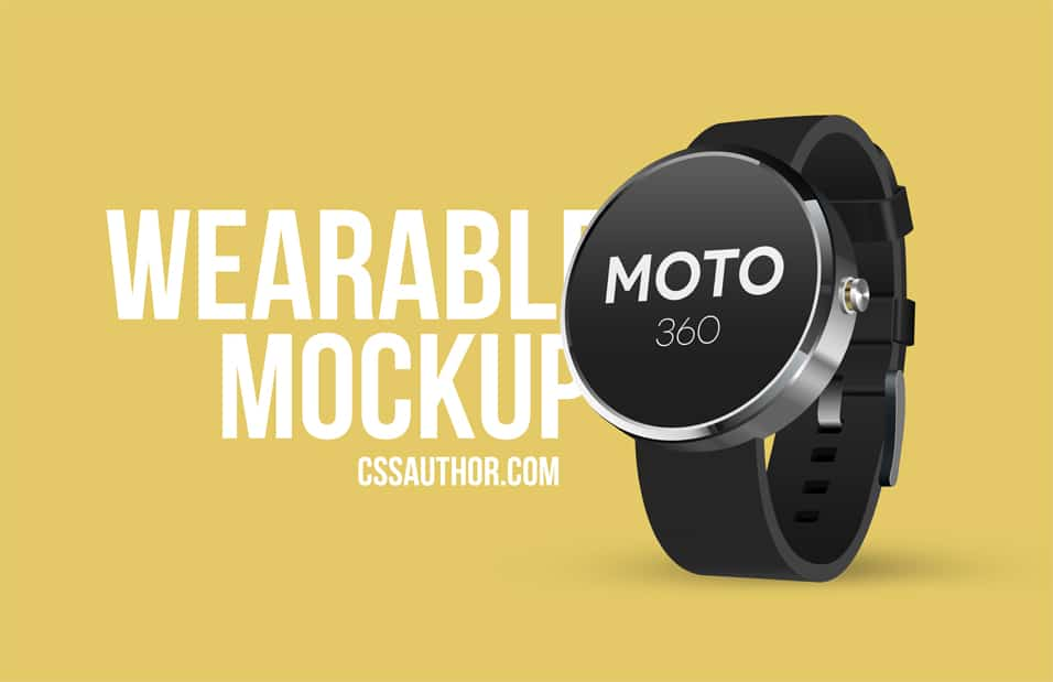 Wearable Mockup Design PSD (Smart Watch)