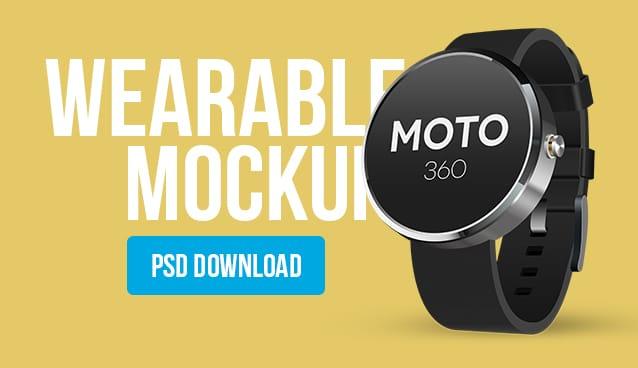 Wearable Mockup Design PSD (Smart Watch)