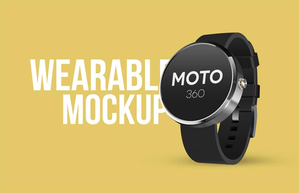 Wearable Mockup PSD