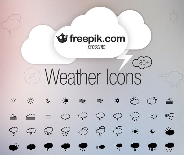 Weather icons vector pack