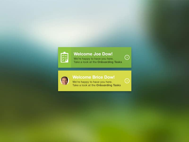 Welcome Widget PSD