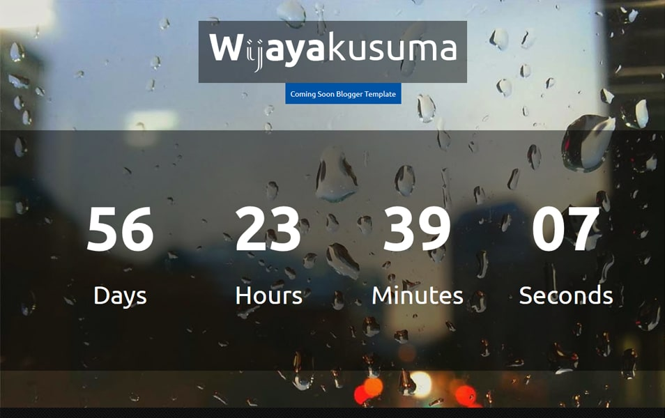 Wijayakusuma Responsive Coming Soon Blogger template