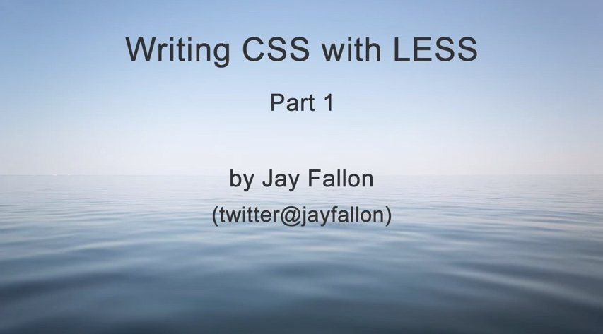 Writing CSS with LESS