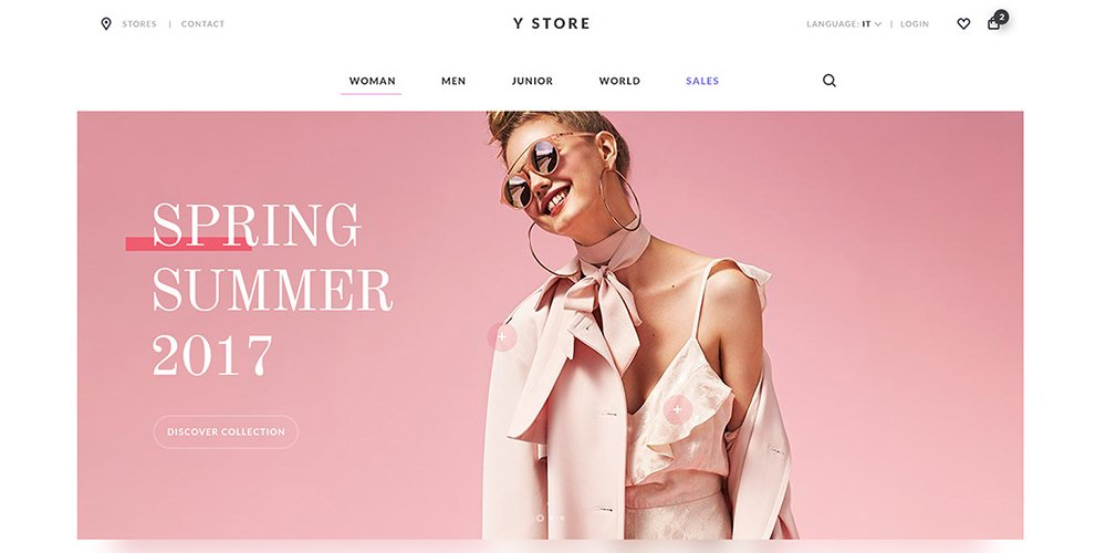 Y Store Free Ecommerce Web Template PSD