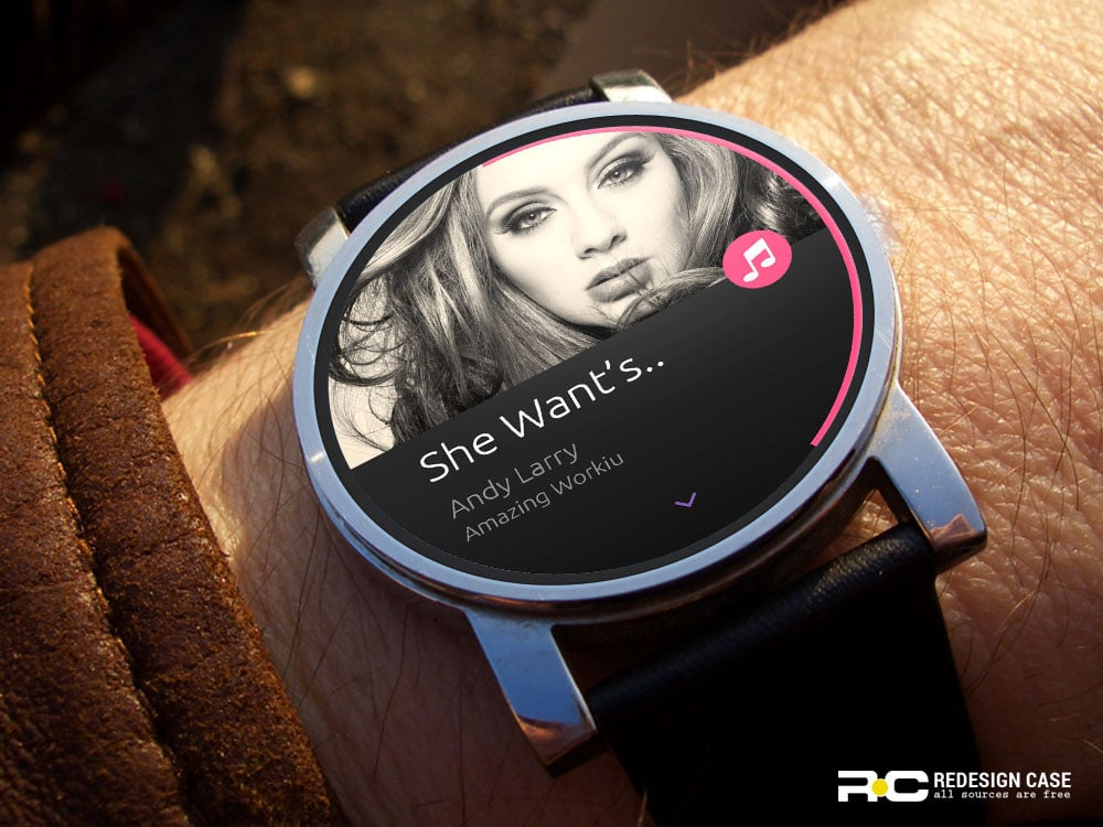 android watch ui psd