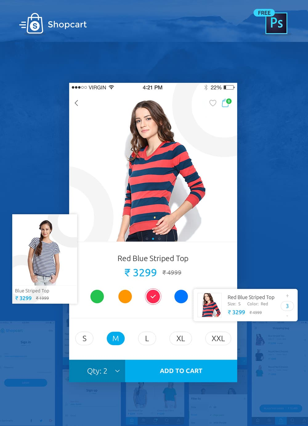 eCommerce Mobile App UI PSD