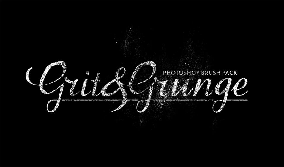 grit grunge photoshop brush pack