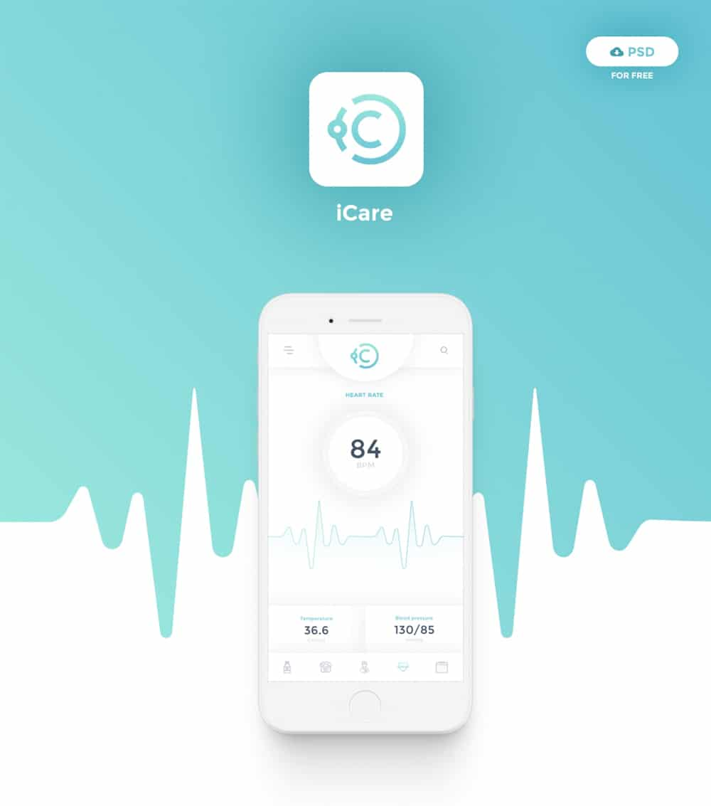iCare Mobile App PSD