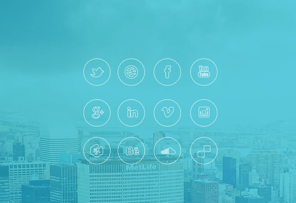 iOS 7 style free social media icon PSD