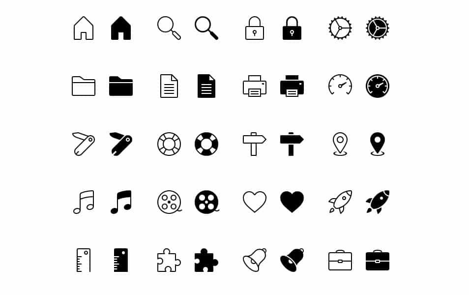 iOS Tab Bar Icons Free