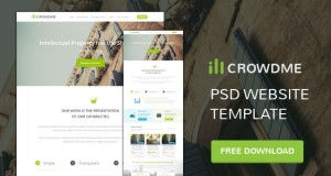 icrowdme – A PSD Website Template – Freebie No:146
