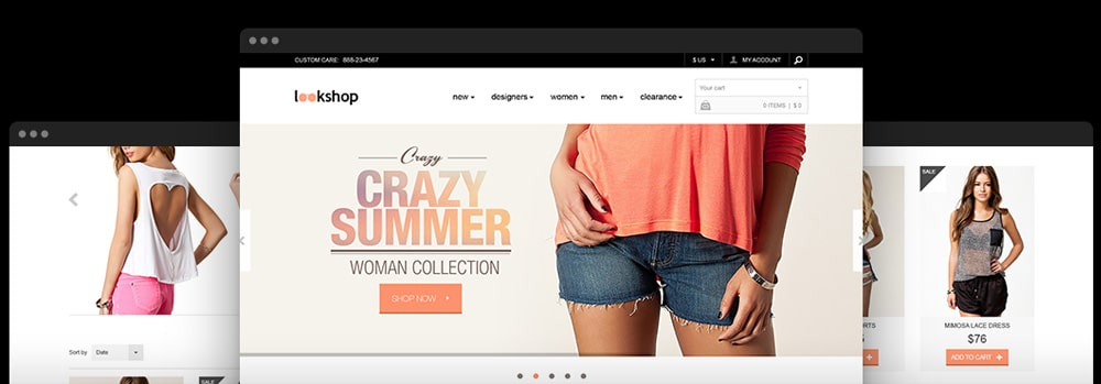 Free E-commerce Responsive PSD Template