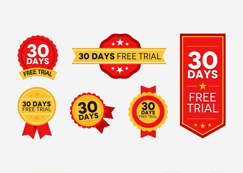 30 Days Free Trial Badges