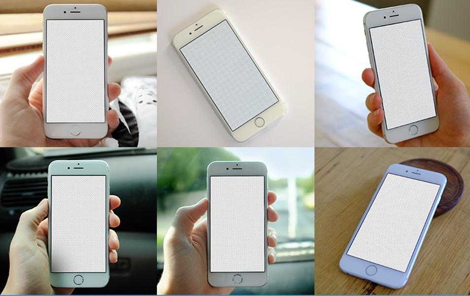 6 free iPhone 6 Mockups