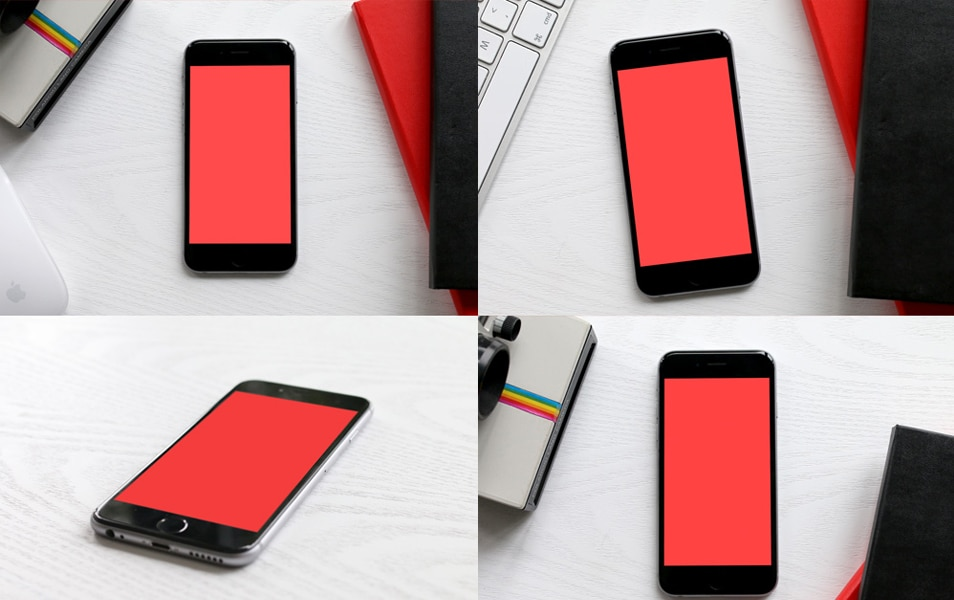 6 iPhone 6 Photo Mockups (PSD)