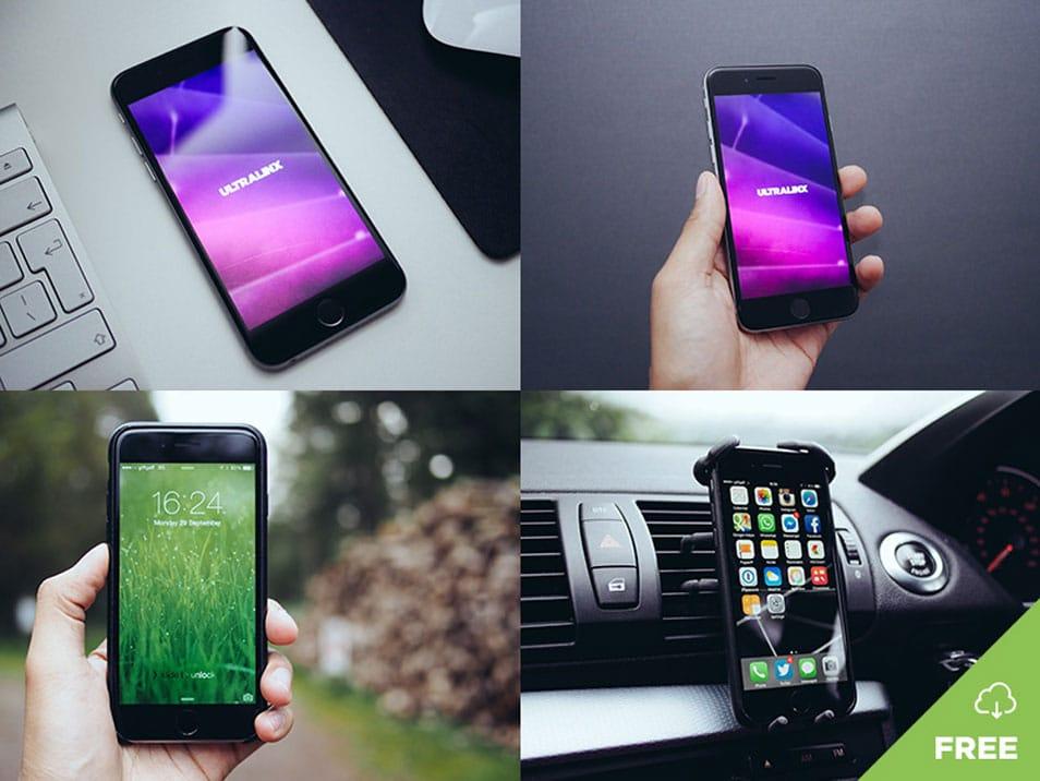 8 Natural iPhone Mockups Free Download