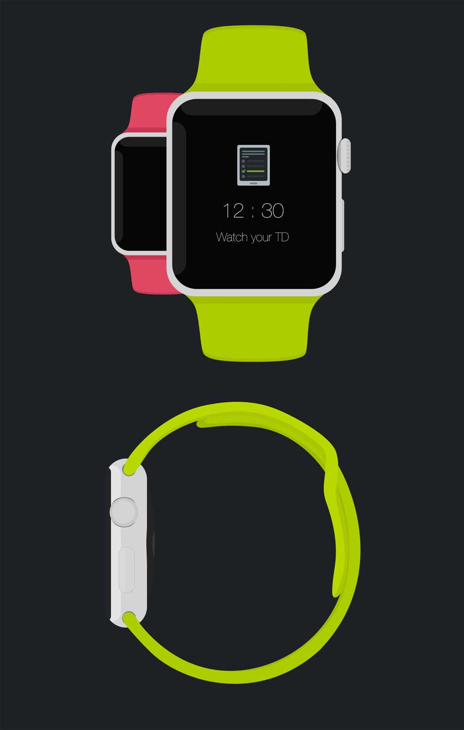 Apple Watch Free Psd Flat Mockup