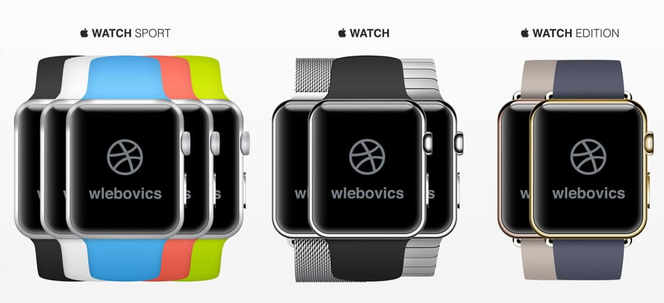 Apple Watch PSD Template