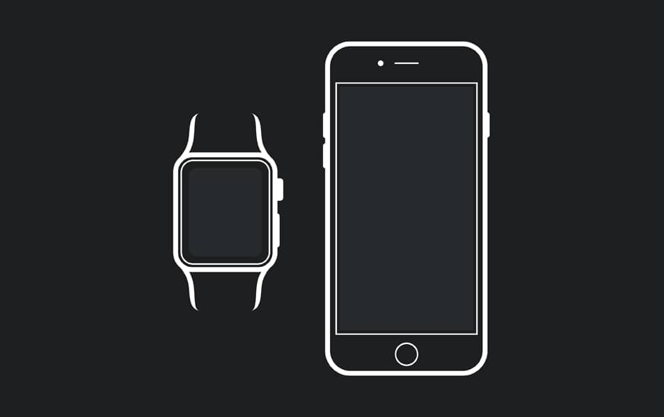 Apple Watch iPhone 6 Mockup Template