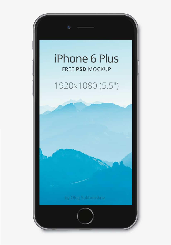 Apple iPhone 6 Plus Mockup PSD