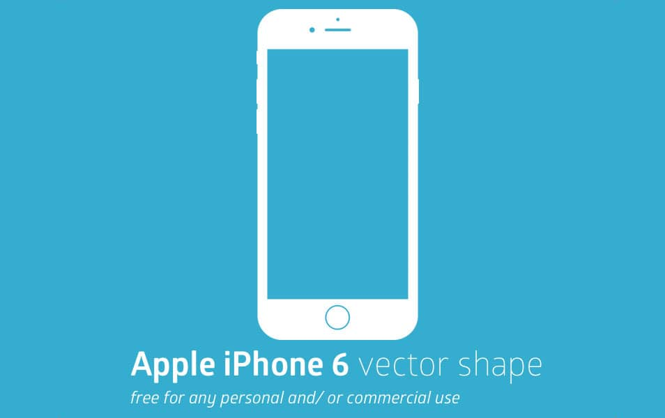 Apple iPhone 6 Vector Shape
