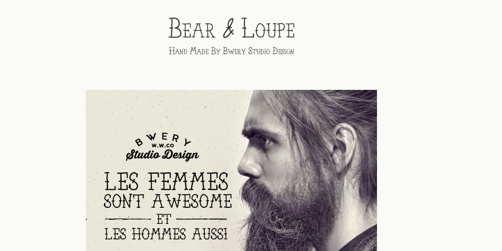 Bear and Loupe Font Family