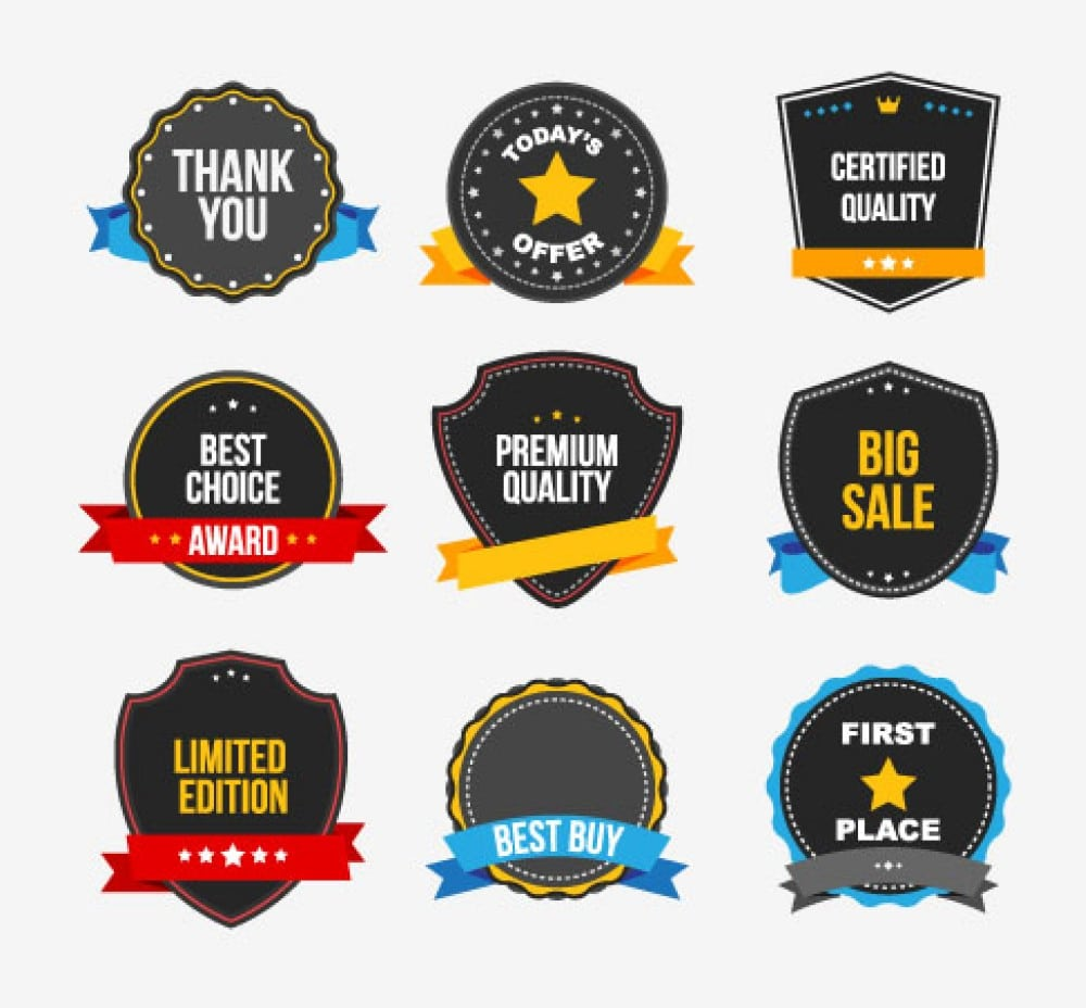 Commercial Stickers Vector