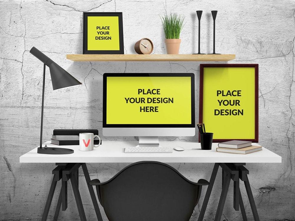 Desk Mockup PSD