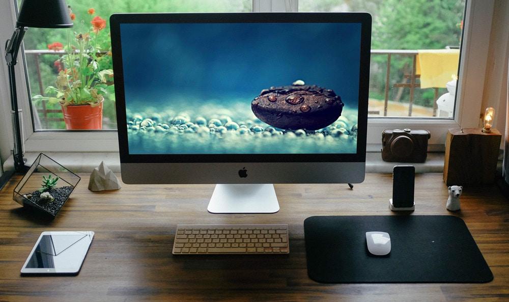 Desk Setup Mockup PSD