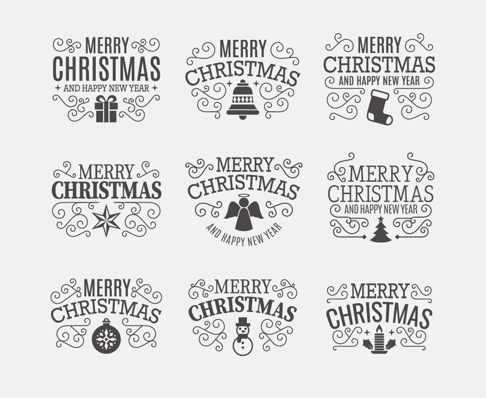 Elegant Christmas Badges