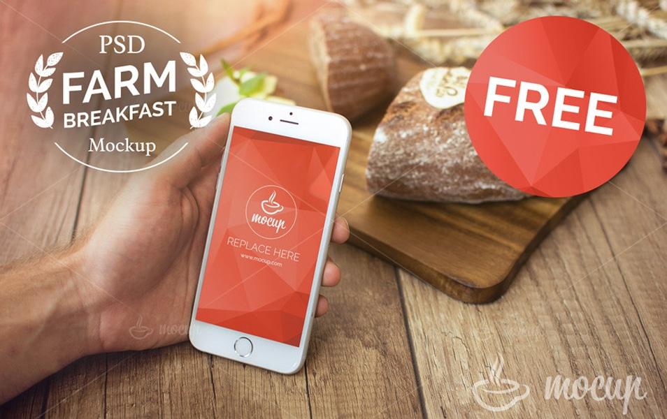 FREE Farm Breakfast iPhone 6 Mockup