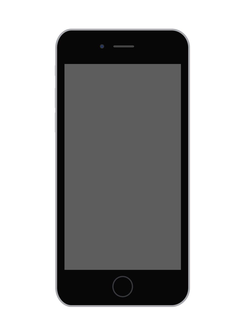 Flat iPhone 6 vector + iPhone sketch Mockup